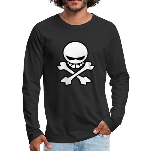 Cartoon Skull - Men's Premium Long Sleeve T-Shirt