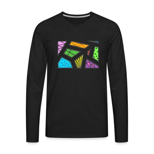 geometric artwork 1 - Men's Premium Long Sleeve T-Shirt