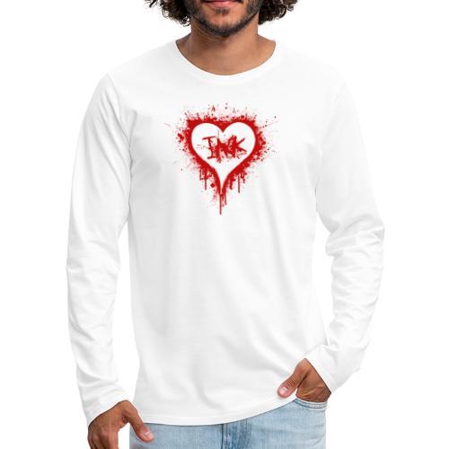 I Love Ink_red - Men's Premium Long Sleeve T-Shirt