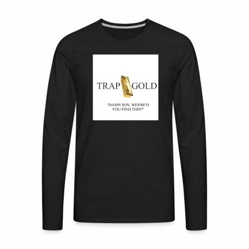 trap gold logo - Men's Premium Long Sleeve T-Shirt