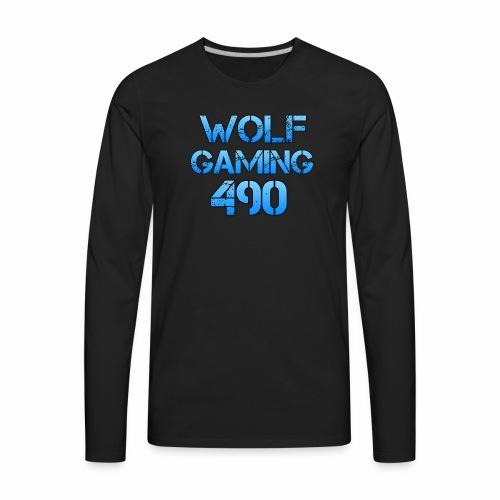 Wolfgaming490 Logo - Men's Premium Long Sleeve T-Shirt