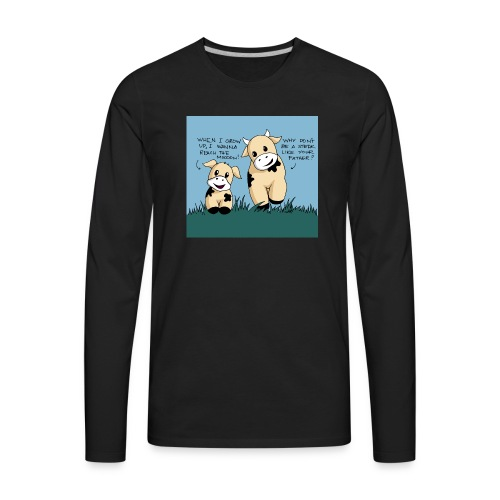 cow tales - Men's Premium Long Sleeve T-Shirt