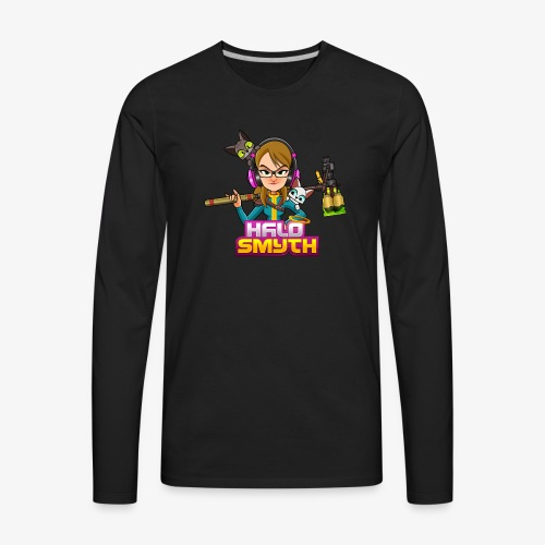 Halo Smyth & Logo - Men's Premium Long Sleeve T-Shirt