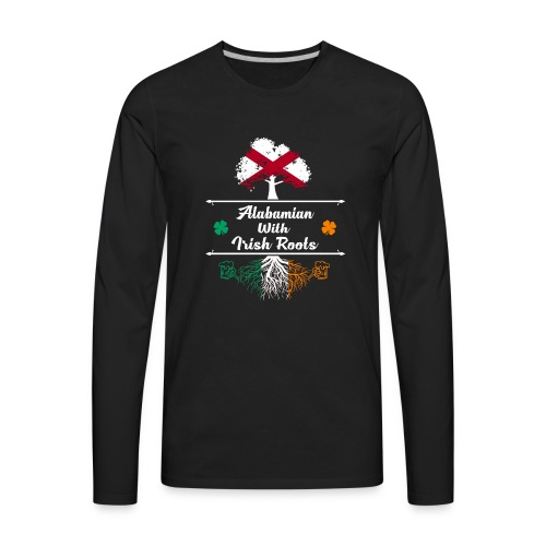 ALABAMIAN WITH IRISH ROOTS - Men's Premium Long Sleeve T-Shirt