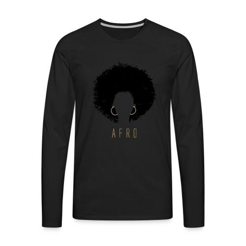 Black Afro American Latina Natural Hair - Men's Premium Long Sleeve T-Shirt