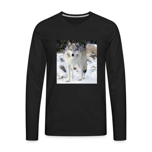 Canis lupus occidentalis - Men's Premium Long Sleeve T-Shirt