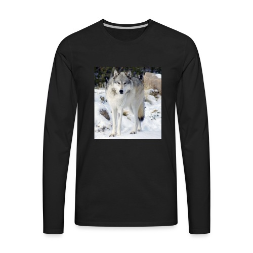 Canis lupus occidentalis - Men's Premium Long Sleeve T-Shirt