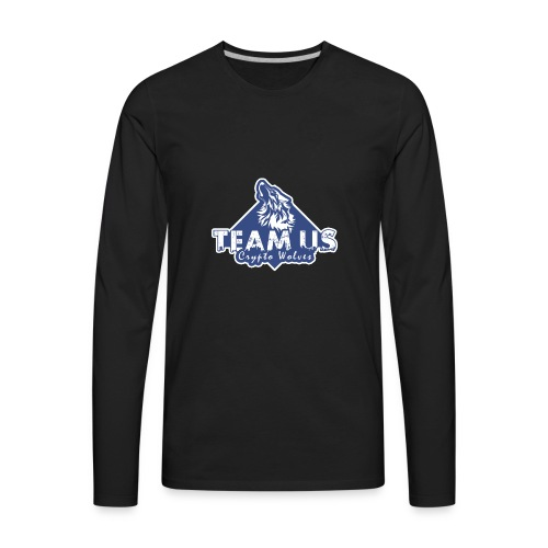 Team Us - Crypto Wolves - Men's Premium Long Sleeve T-Shirt