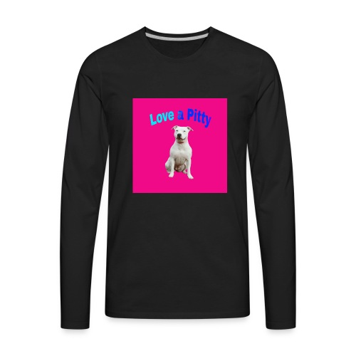 Pink Pit Bull - Men's Premium Long Sleeve T-Shirt