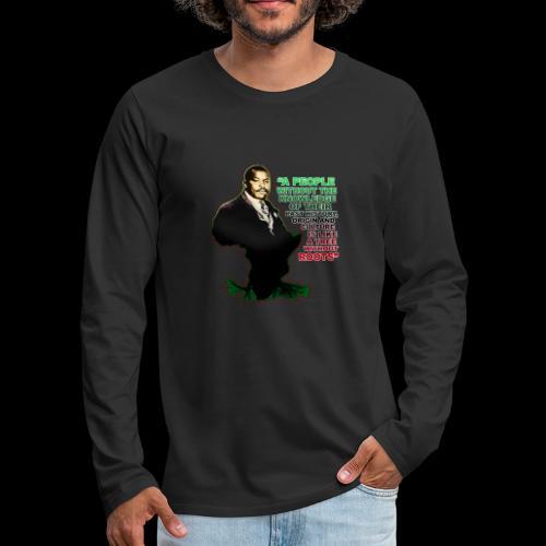 Marcus Garvey Afrika - Men's Premium Long Sleeve T-Shirt