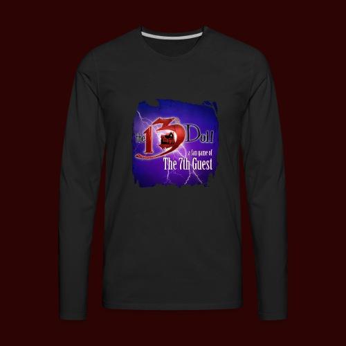 The 13th Doll Logo With Lightning - Men's Premium Long Sleeve T-Shirt