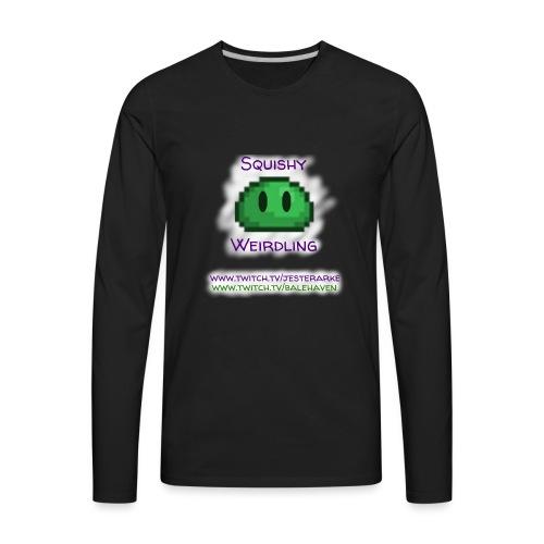 Green Squishy with white splash & adressess - Men's Premium Long Sleeve T-Shirt