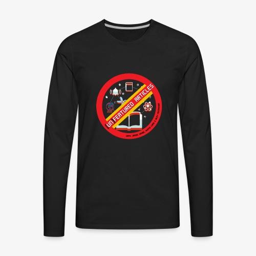 unFeatured Articles Logo - Men's Premium Long Sleeve T-Shirt