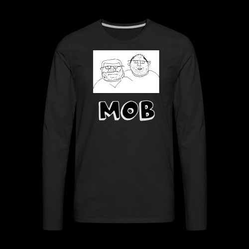 MOB Logo - Men's Premium Long Sleeve T-Shirt