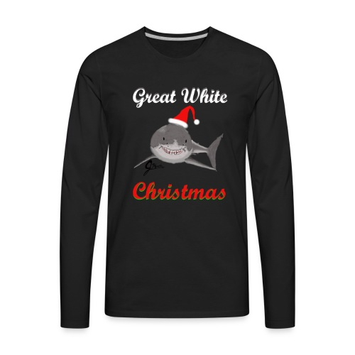 Dreaming of a Great White Christmas - Men's Premium Long Sleeve T-Shirt