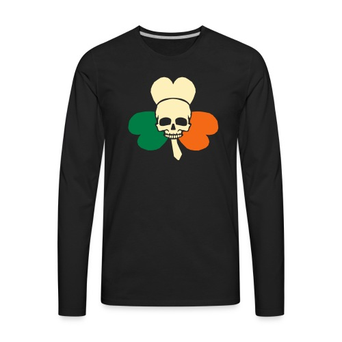 irish_skull_shamrock - Men's Premium Long Sleeve T-Shirt
