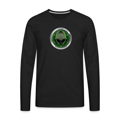 New Alien Investigations Head Logo - Men's Premium Long Sleeve T-Shirt