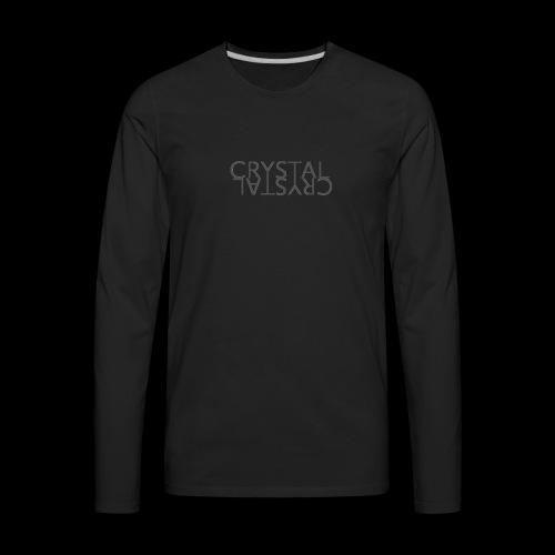 Crystal Logo Black - Men's Premium Long Sleeve T-Shirt