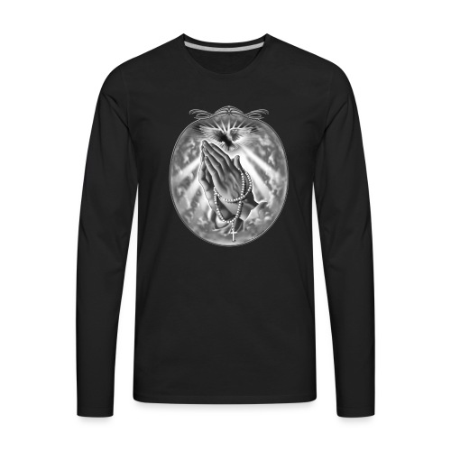 Praying Hands by RollinLow - Men's Premium Long Sleeve T-Shirt