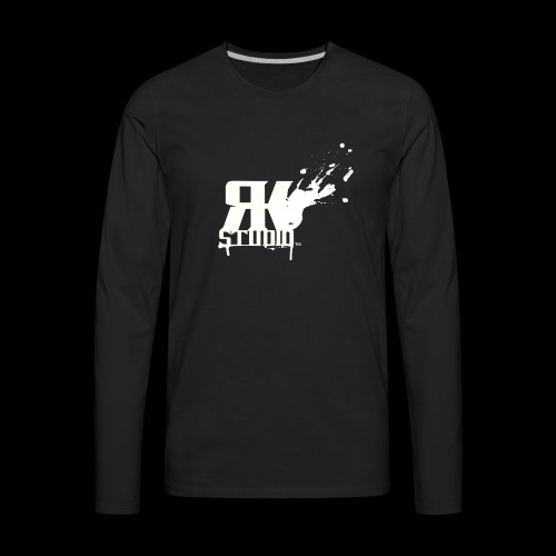 RKStudio White Logo Version - Men's Premium Long Sleeve T-Shirt