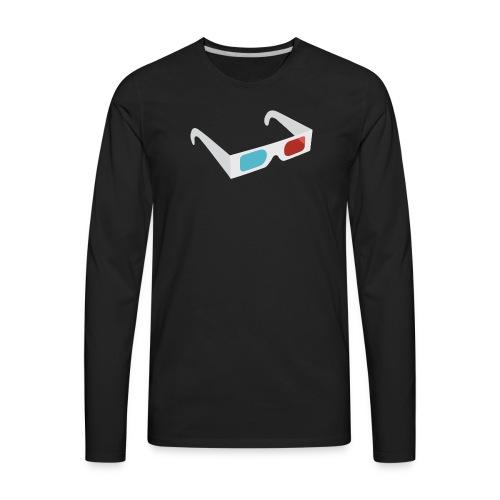 3D Glasses - Men's Premium Long Sleeve T-Shirt