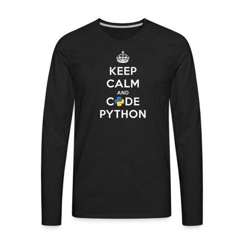 Keep Calm and Code on for Python Develop - Men's Premium Long Sleeve T-Shirt