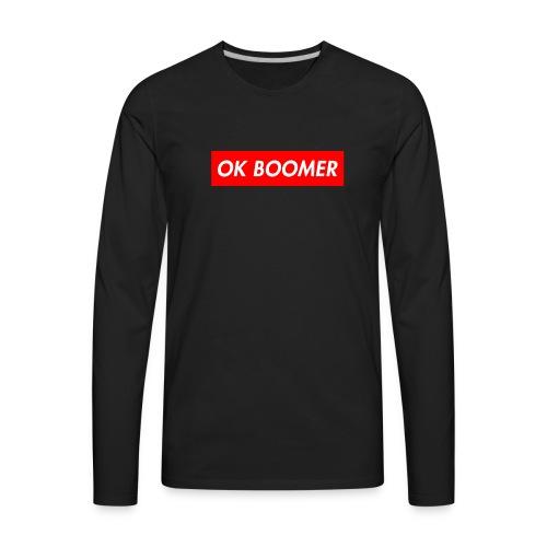 ok boomer merch - Men's Premium Long Sleeve T-Shirt