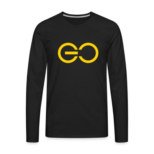GO logo big - Men's Premium Long Sleeve T-Shirt