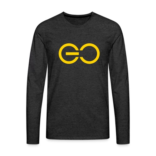 GO logo big - Men's Premium Long Sleeve T-Shirt