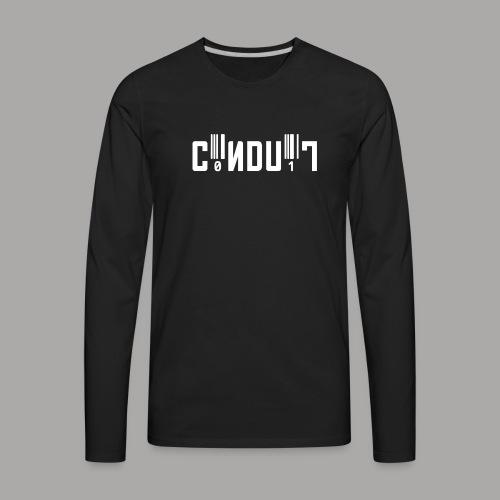 C0NDU1T LOGO 1000 png - Men's Premium Long Sleeve T-Shirt