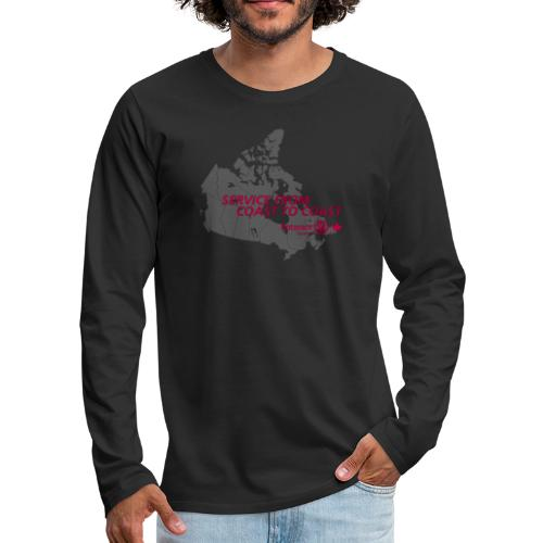 Coast to Coast - Men's Premium Long Sleeve T-Shirt