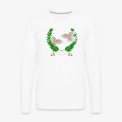 OLIVE BRANCH DOVES - Men's Premium Long Sleeve T-Shirt