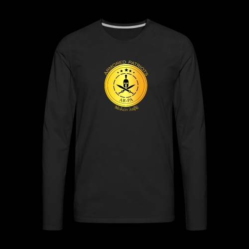 Armored Patriots Logo - Men's Premium Long Sleeve T-Shirt