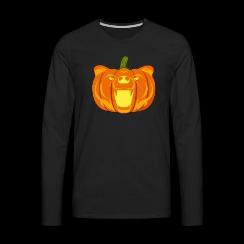 Pumpkin Bear - Men's Premium Long Sleeve T-Shirt