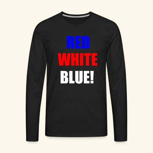 red white blue OCD - Men's Premium Long Sleeve T-Shirt
