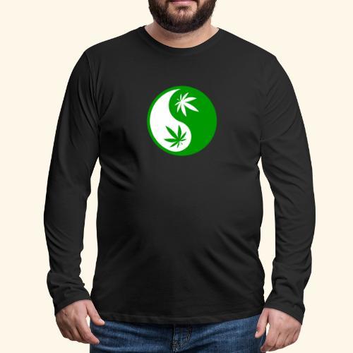 Ying Yang Cannabis - Weed Ying Hanf Yang - Design - Men's Premium Long Sleeve T-Shirt