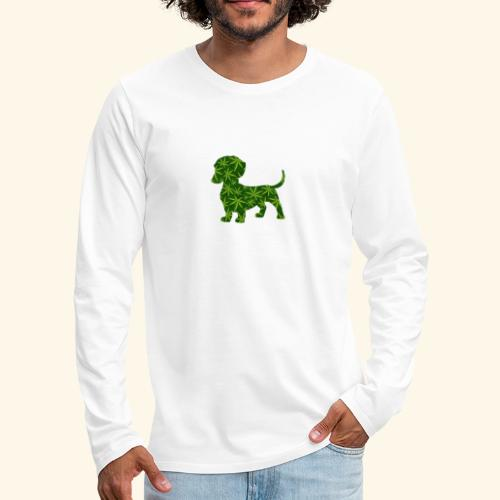 PUFFY DOG - PRESENT FOR SMOKING DOGLOVER - Men's Premium Long Sleeve T-Shirt