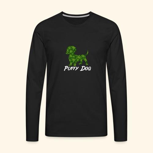 PUFFY DOG - PRESENT FOR SMOKING DOGLOVER - Men's Premium Long Sleeve T-Shirt