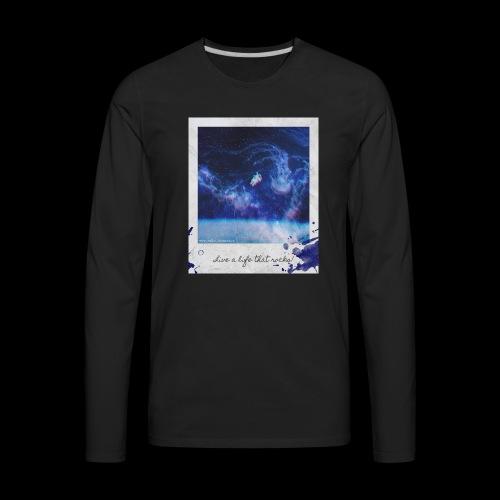 Polaroid Spaceman - Men's Premium Long Sleeve T-Shirt