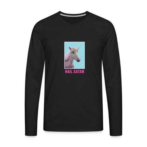 Satanic Unicorn - Men's Premium Long Sleeve T-Shirt