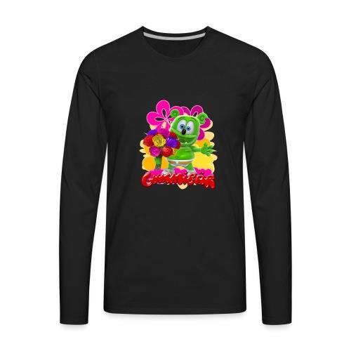Gummibär Flowers - Men's Premium Long Sleeve T-Shirt