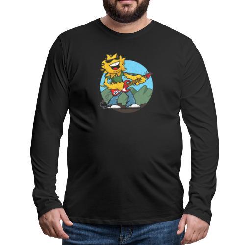 sun guitar rocker v1 t - Men's Premium Long Sleeve T-Shirt