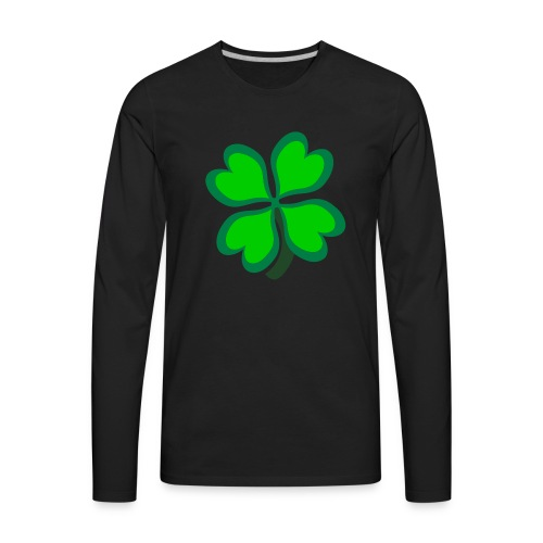 4 leaf clover - Men's Premium Long Sleeve T-Shirt