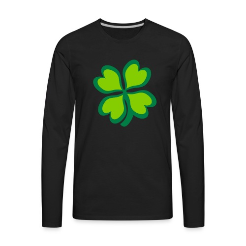 4 leaf clover - Men's Premium Long Sleeve T-Shirt
