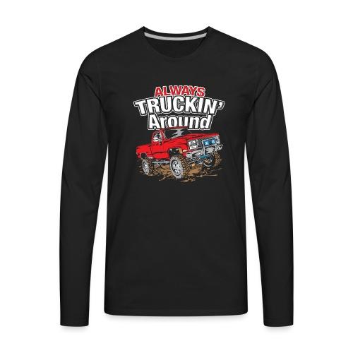 Chevy Truckin Around Red - Men's Premium Long Sleeve T-Shirt