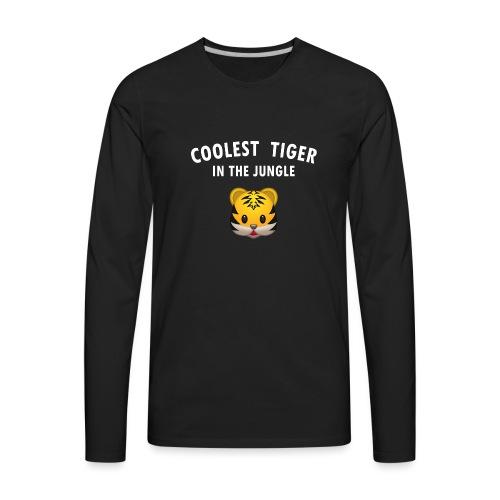 Coolest Tiger Hoodie - Men's Premium Long Sleeve T-Shirt
