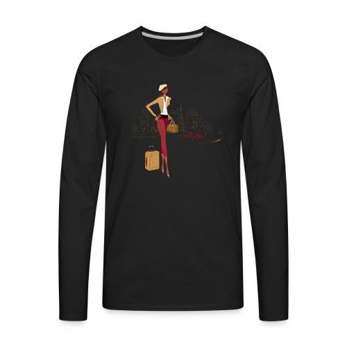BrowOutfitPNG png - Men's Premium Long Sleeve T-Shirt