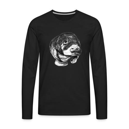 Manatee sketch - Men's Premium Long Sleeve T-Shirt