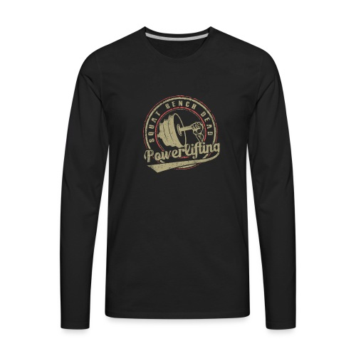 powerlifting - Men's Premium Long Sleeve T-Shirt
