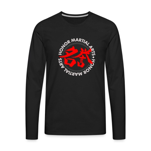 Honor Martial Arts Kanji Design Light Shirts - Men's Premium Long Sleeve T-Shirt